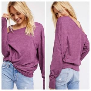 🌷Free People Saratoga Mulberry Asymmetric Top